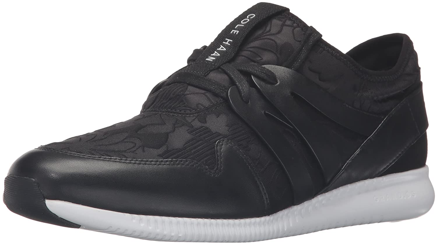 Cole Haan Women's 2.0 Studiogrand Trainer Fashion Sneaker B01HYZ97W0 7 B(M) US|Black Floral Embossed Neoprene/Leather/Optic White