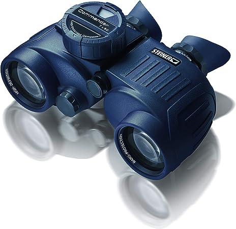 Steiner Commander 7x50 prismáticos marinos con brújula - la brújula iluminada más grande y precisa, hermética a la presión del agua de 10 m - la clase ...