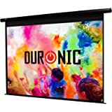 Duronic EPS92/169 HD Projector Screen (Screen: 203cm(w) X 114cm(h)) - 16:9 Widescreen Matte White Screen - Electric Motorised switch control