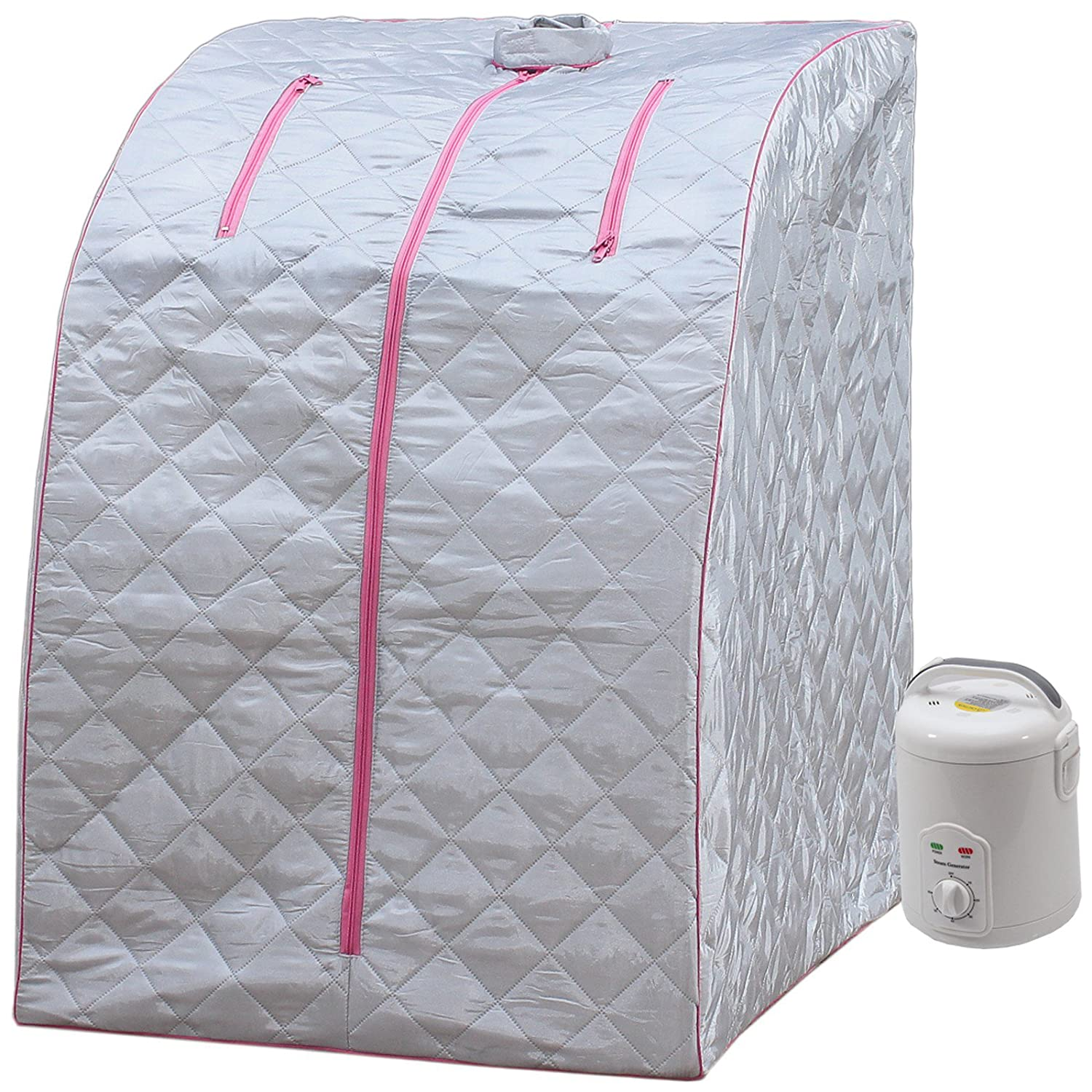 Lightweight Personal Steam Sauna by Durasage for Relaxation at Home, 60 Min Timer - Pink Durherm SS03_Pink