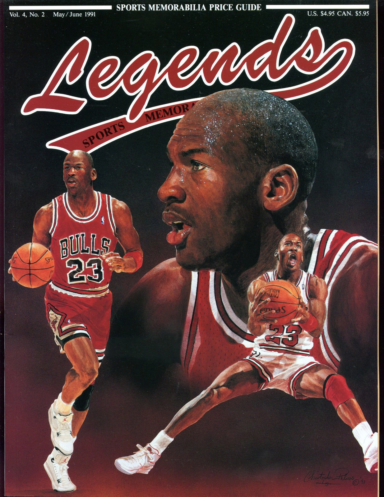 1991 Legends Basketball Card Magazine Michael Jordan Cover Bulls Barry Sanders