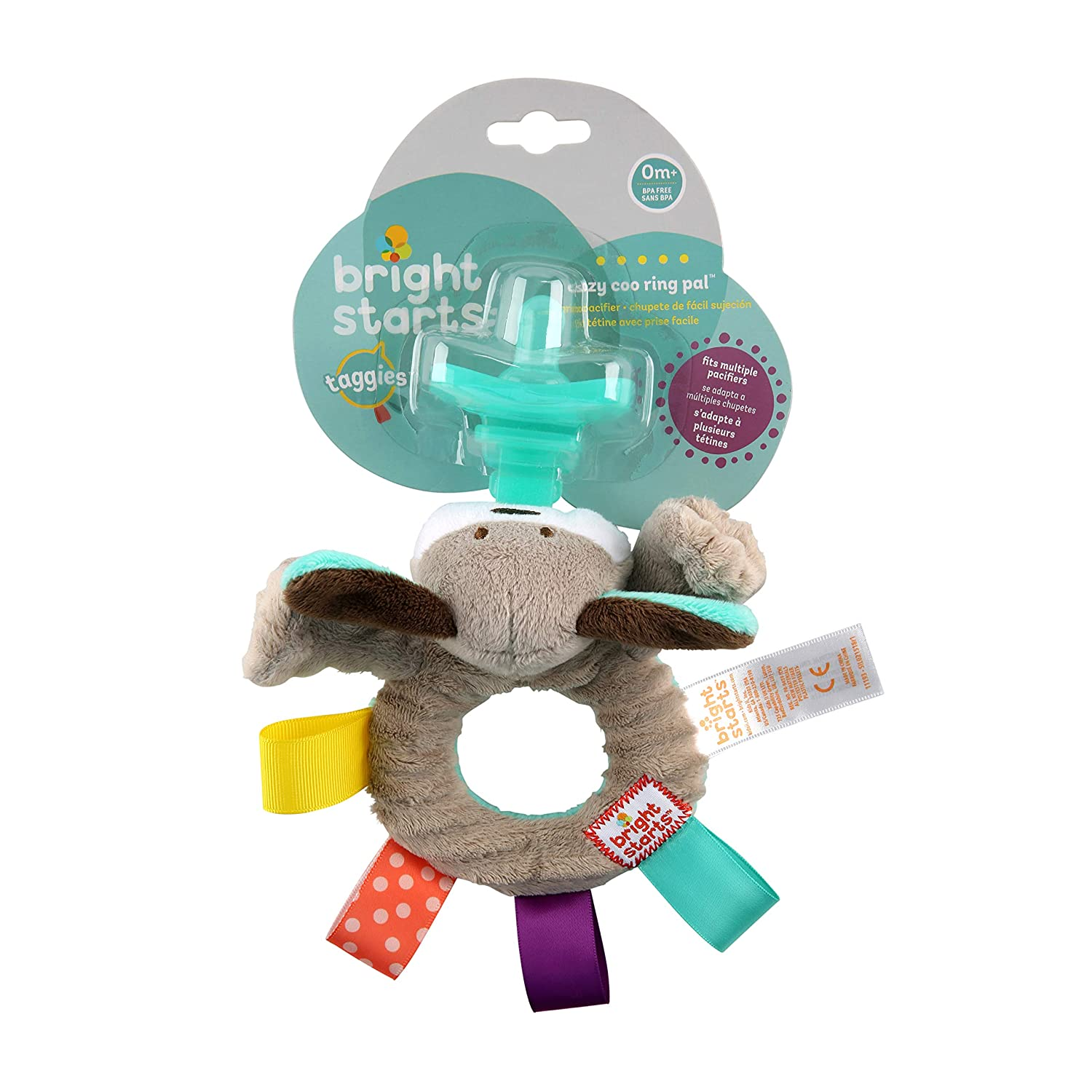 Bright Starts Taggies Cozy Coo Ring Pal, Blue