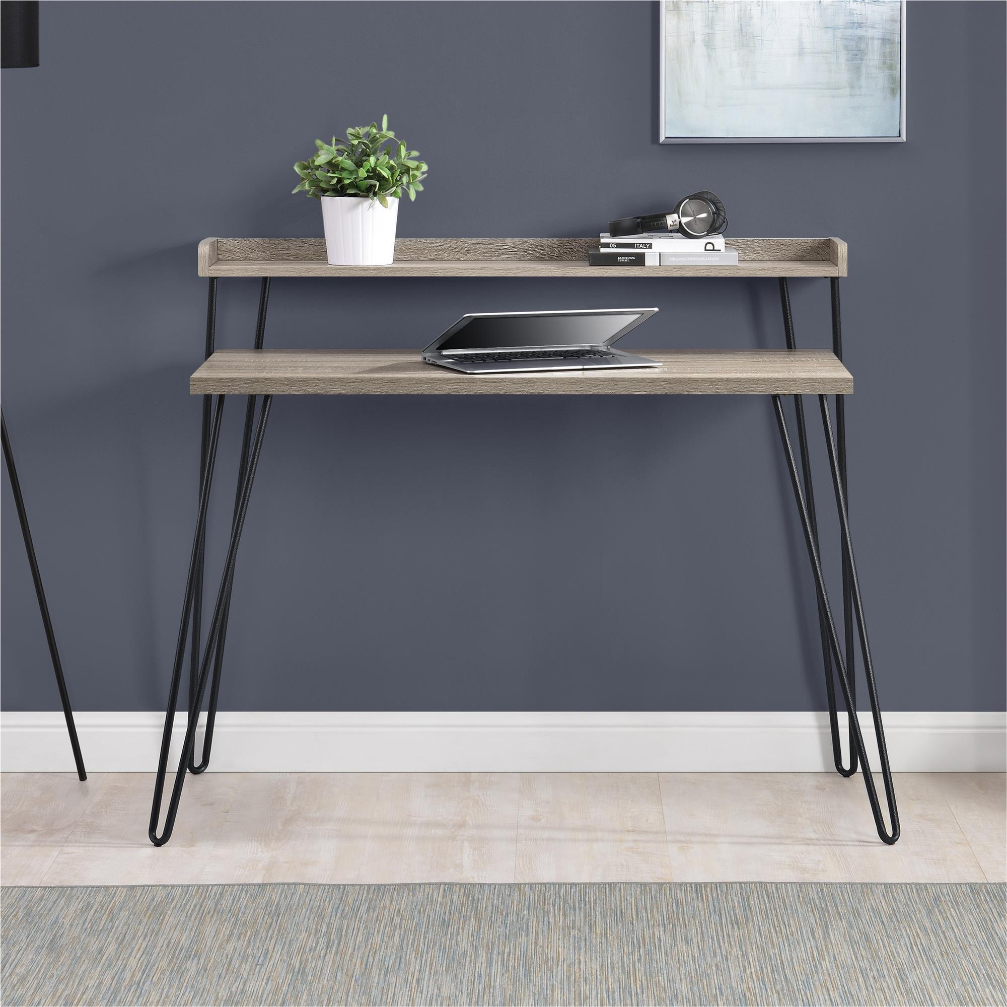 Ameriwood Home Haven Retro Desk Riser, Weathered Oak by Ameriwood Home (Image #3)