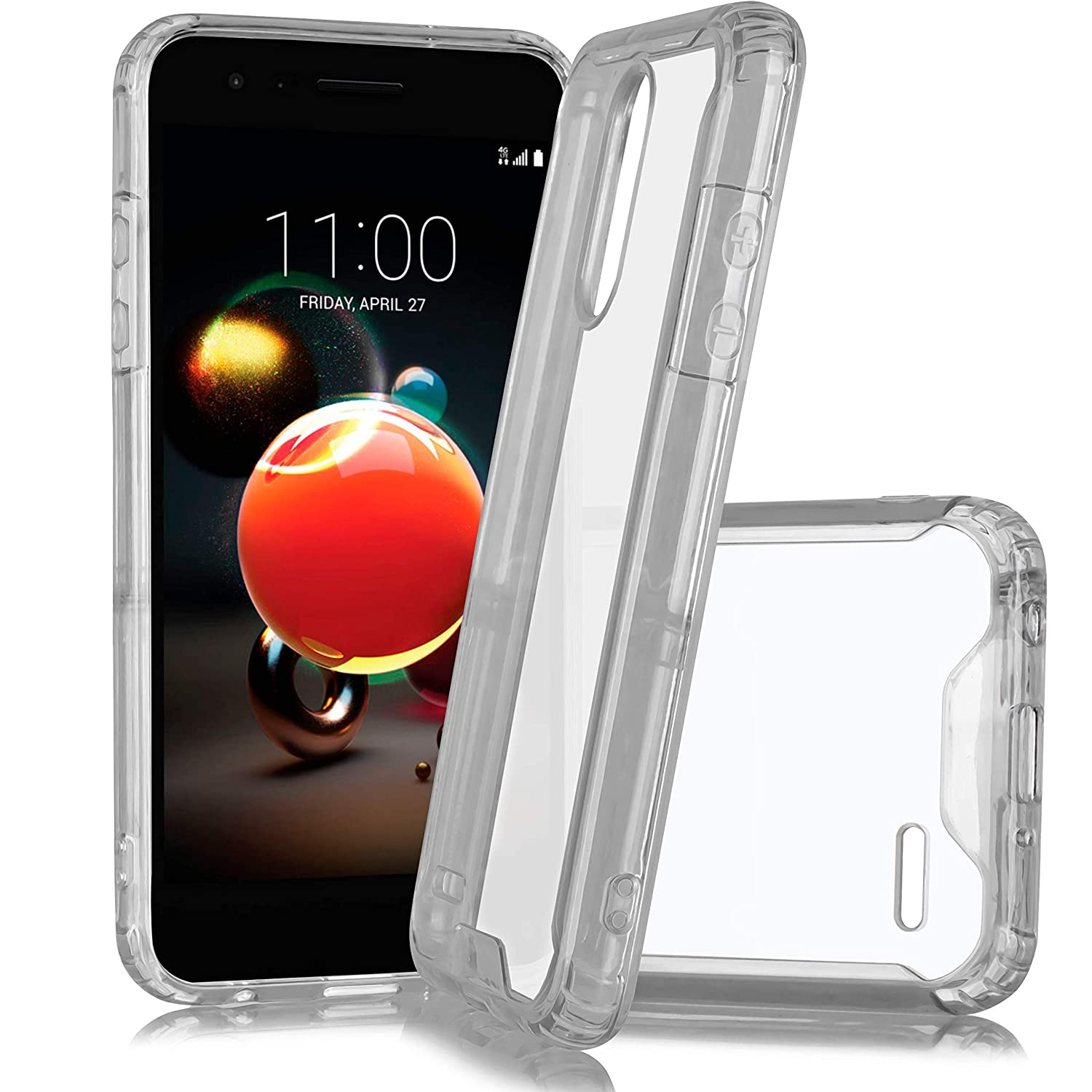 for LG Tribute Empire/Rebel 4/ Risio 3/ Fortune 2/ Phoneix 3/ Zone 4/ Aristo 3/ Tribute Dynasty/ K8 2018 Clear Protective Bumper Shield Protective Shock Absorbing TPU Flex Durable Hard Case (Clear)
