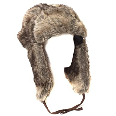 Style magnifique classique sélectionner pour véritable Bonnet de Trappeur Fausse Fourrure Style Russe (Beige/Marron ...