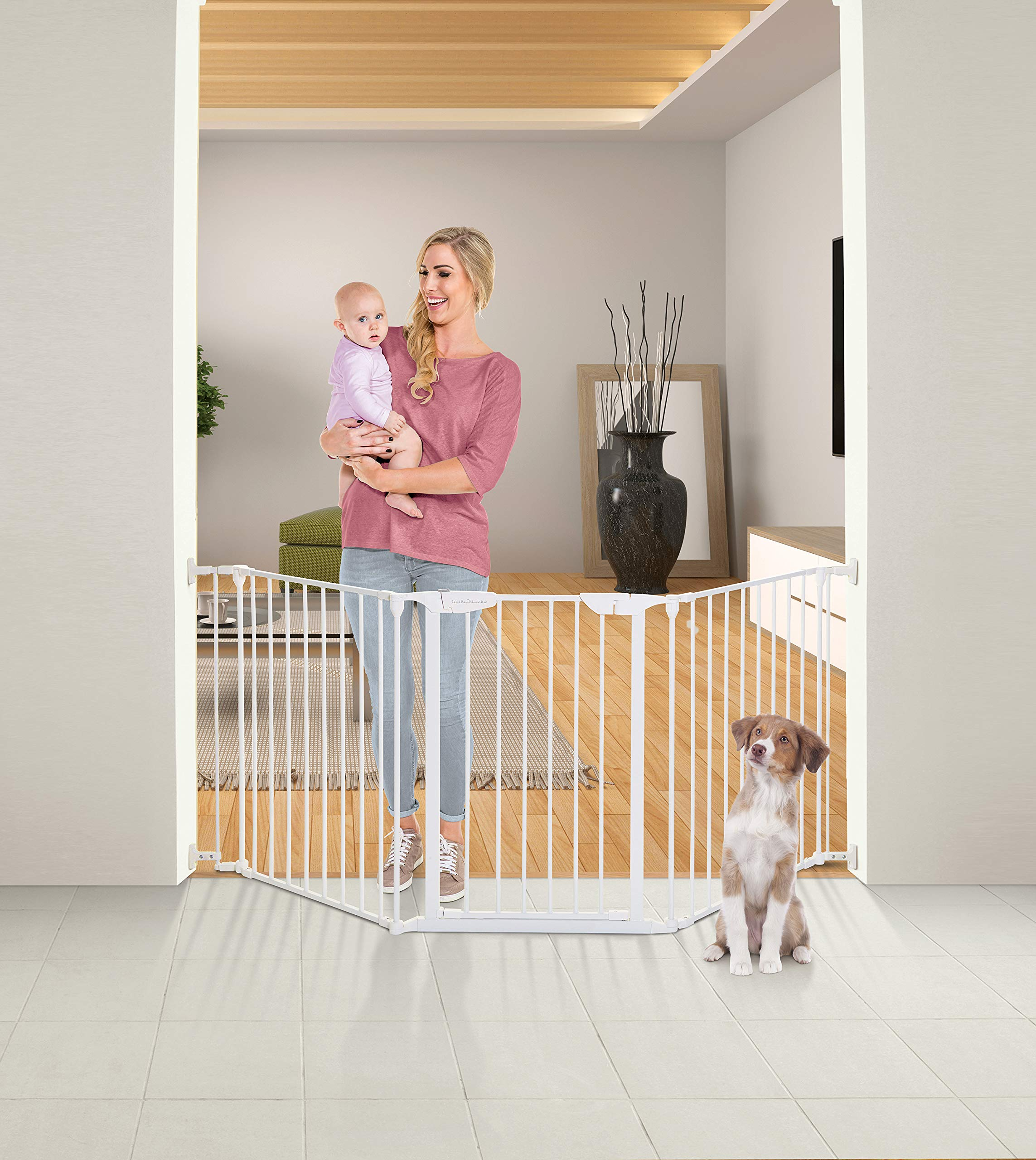 Little Chicks Waverely Configure-It Hardware Mounted Gate for Top & Bottom of Stairs