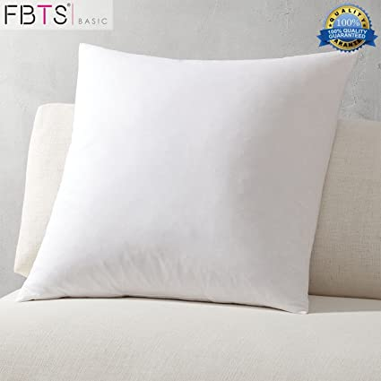 Amazon FBTS Basic Pillow Insert 40 Pack 408x408 Inch Square Sham Gorgeous Decorative Pillow Forms
