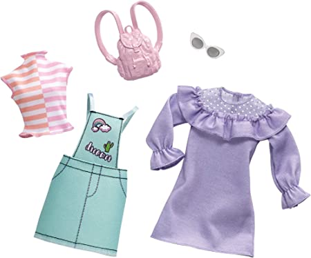 Amazon.es: Barbie Fashionistas - Ropa de Barbie con 2 conjuntos completos, ropa y accesorios para muñecas (Mattel ...