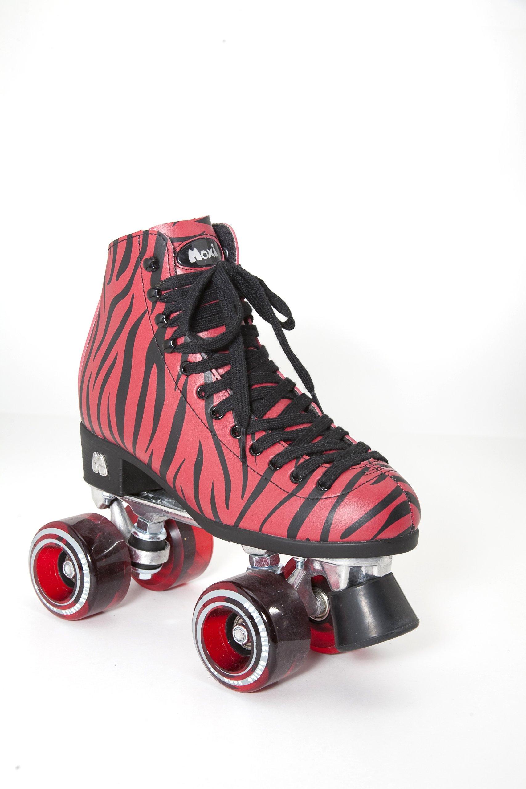 Moxi Roller Skates Ivy Roller Skates,Red Zebra,5