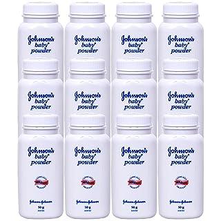 Johnson & Johnson Baby Powder 50 Gram /1.7 Oz (Pack of 12)