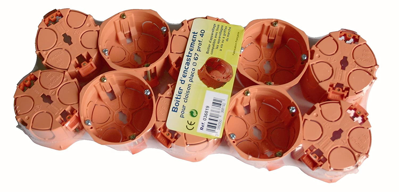 Capri CAP036819 - Lote de cajas de empotrar para tabique amovible (10 unidades)