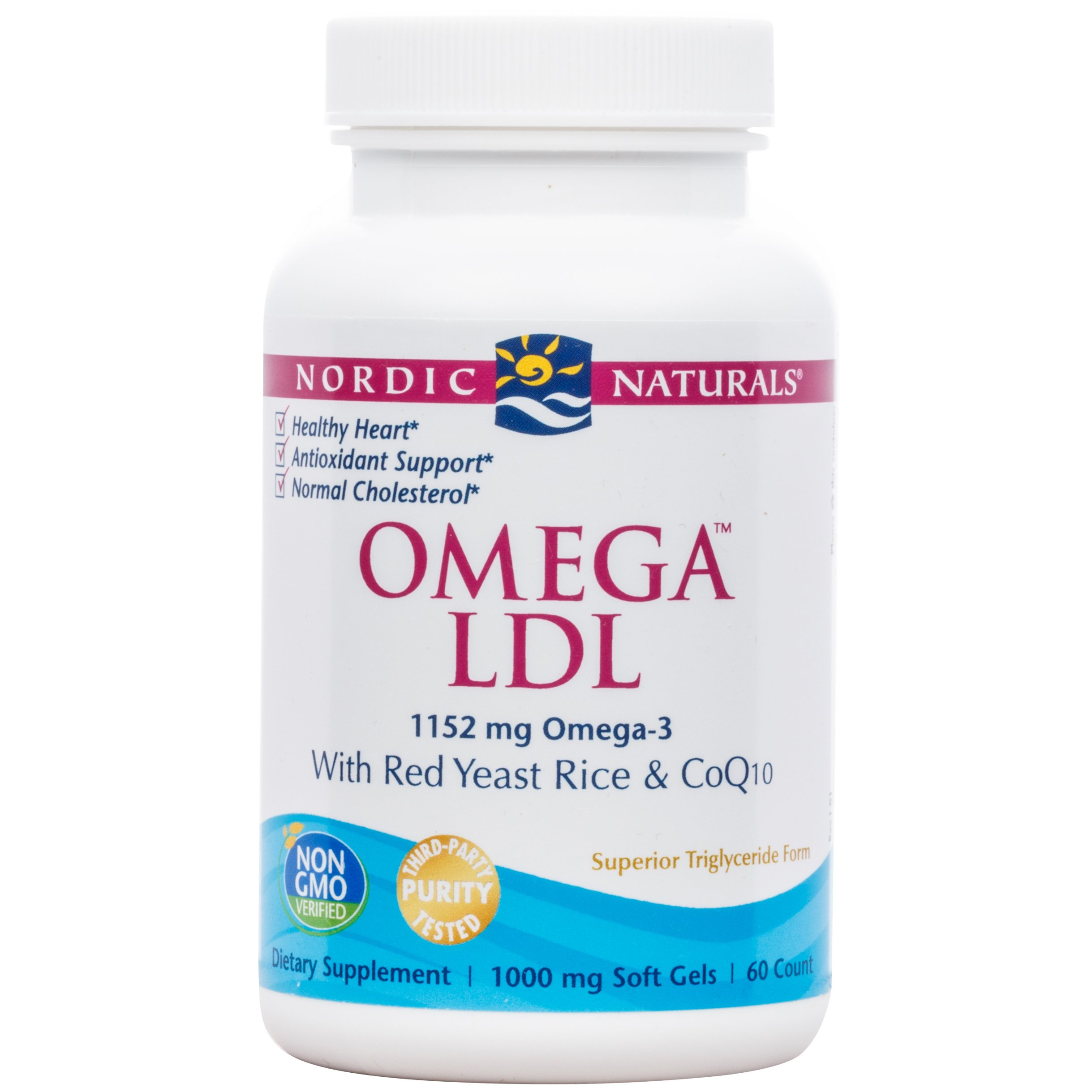Nordic Naturals - Omega LDL, With Red Yeast Rice & CoQ10, 60 Soft Gels (FFP)