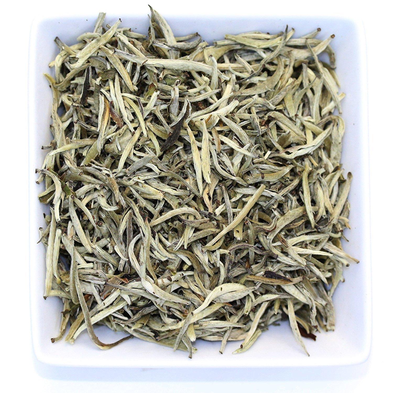 Tealyra - Imperial Yunnan Silver Needle - White Loose Leaf Tea - Organically Grown - Caffeine Level Low - 200g (7-ounce)