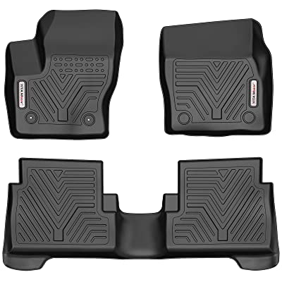 YITAMOTOR Floor Mats Compatible with Ford Escape, Custom fit Floor Liners for 2015-2020 Ford Escape, 1st and 2nd Row Heavy Duty Rubber: Automotive