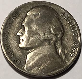 1944 P Jefferson Nickel Very Good Details At Amazons Collectible