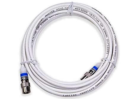 Channel Master CM-3721 Mini Coaxial Cable with Push-On Connectors - 16 Foot