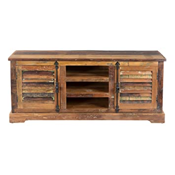 Yosemite Home Decor Yfur Sba5141 Reclaimed Media Stand Hand Painted Reclaimed Wood Finish