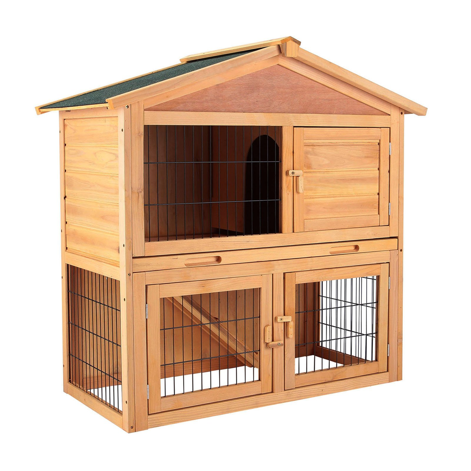 Uenjoy 40'' Wooden Rabbit Hutch Cage Chicken Coop Hen House Poultry Cage Pet