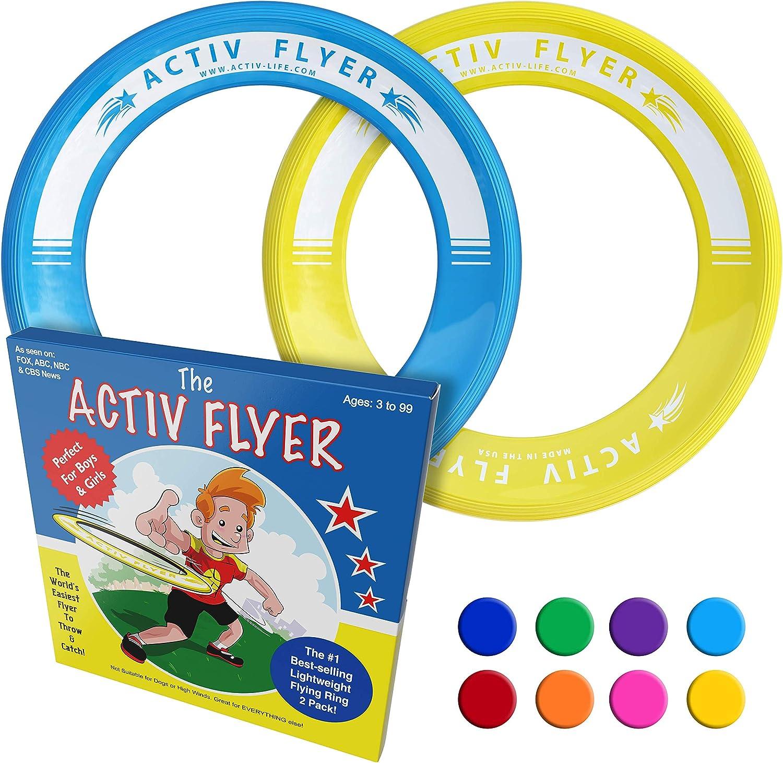 Activ Life Anillos voladores niños [Amarillo/Cian]. Regalo de ...