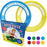 Activ Life Kid's Flying Rings [2 Pack] Fly Straight & Don't Hurt - 80% Lighter Than Standard Flying Discs - Replace Screen Time with Healthy Family Fun - Get Outside & Play! Made in USA