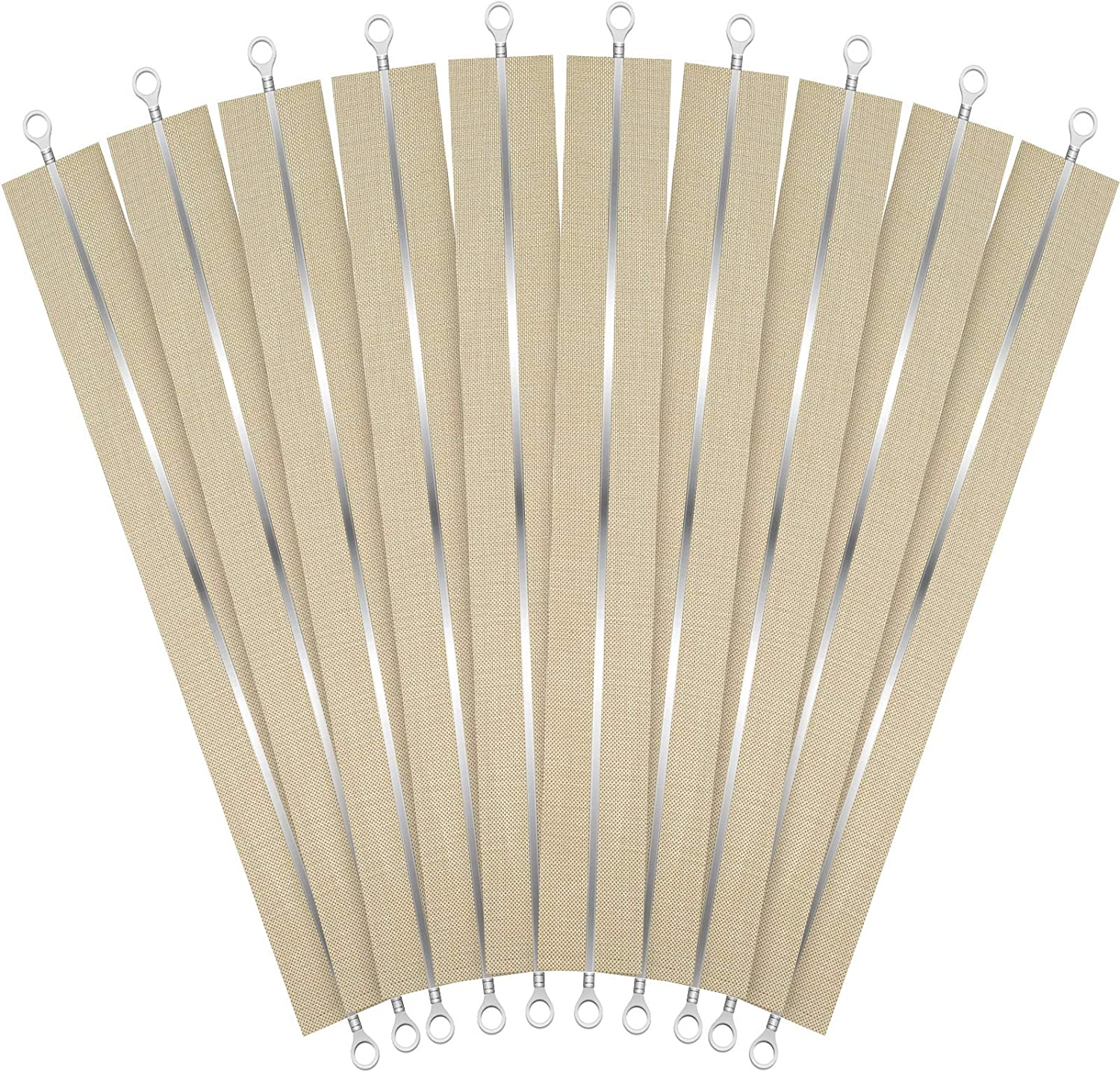 10 Pieces 8 Inch Impulse Sealer Heating Element Service Spare Repair Parts Kit Heat Seal Strips Replacement Elements Compatible with PFS-200 FS-200 PSF-200 PSF200 F-200 (200 mm)