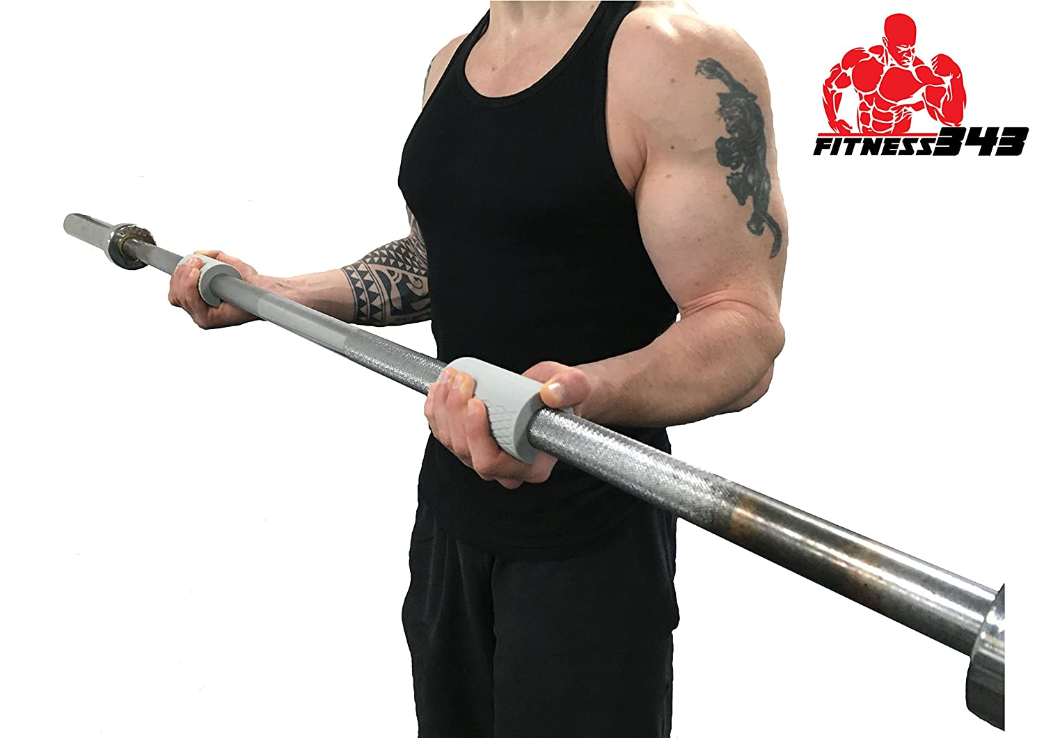 - Made From Comfortable and Durable Non-slip Silicone Rubber 2 Thick Bar Grips 60LB /& 70LB Resistance THE ULTIMATE FOREARM BUNDLE 2 Forearm Grip Rings Quality Manufactured 100/% refundable Fitness343 Bar Grips