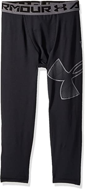 Under Armour Boy/'s Youth XL NWT Heat Gear Fitted Compression Legging Pant Gray