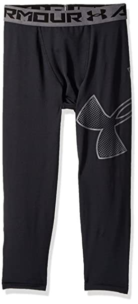 716548f5ec37c Amazon.com: Under Armour Boys Heatgear Armour Logo 3/4 Leggings: Clothing