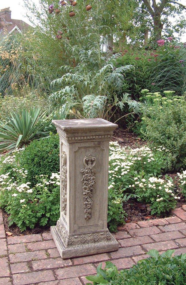 Attractive Stone Statue Plinth   Floral Column Pedestal: Amazon.co.uk: Garden U0026  Outdoors