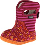 Bogs Toddler Classic Flower Stripes Winter Snow Boot