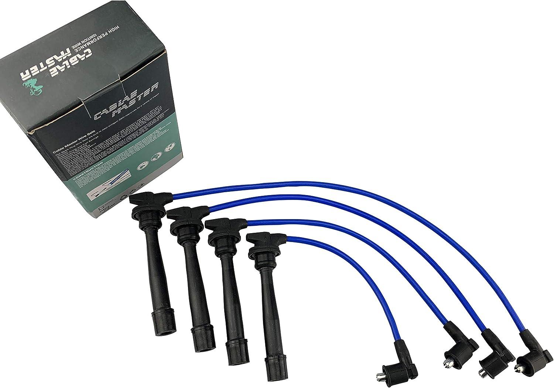 Cable Master Spark Plug Wires Compatible with Hyundai Elantra Tiburon Tucson Kia Sou Spectra Spectra5 Sportage