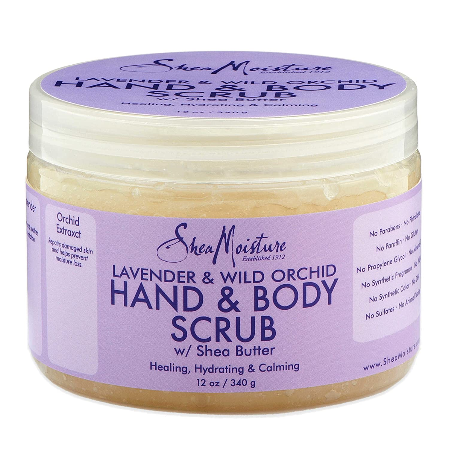 Shea Moisture 12 Oz. Hand And Body Scrub In Lavender And Wild Orchid