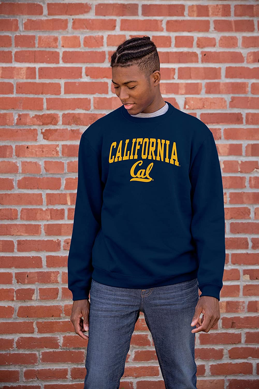 The Blue Brand NCAA Mens Crewneck Sweatshirt Team Color Arching Over