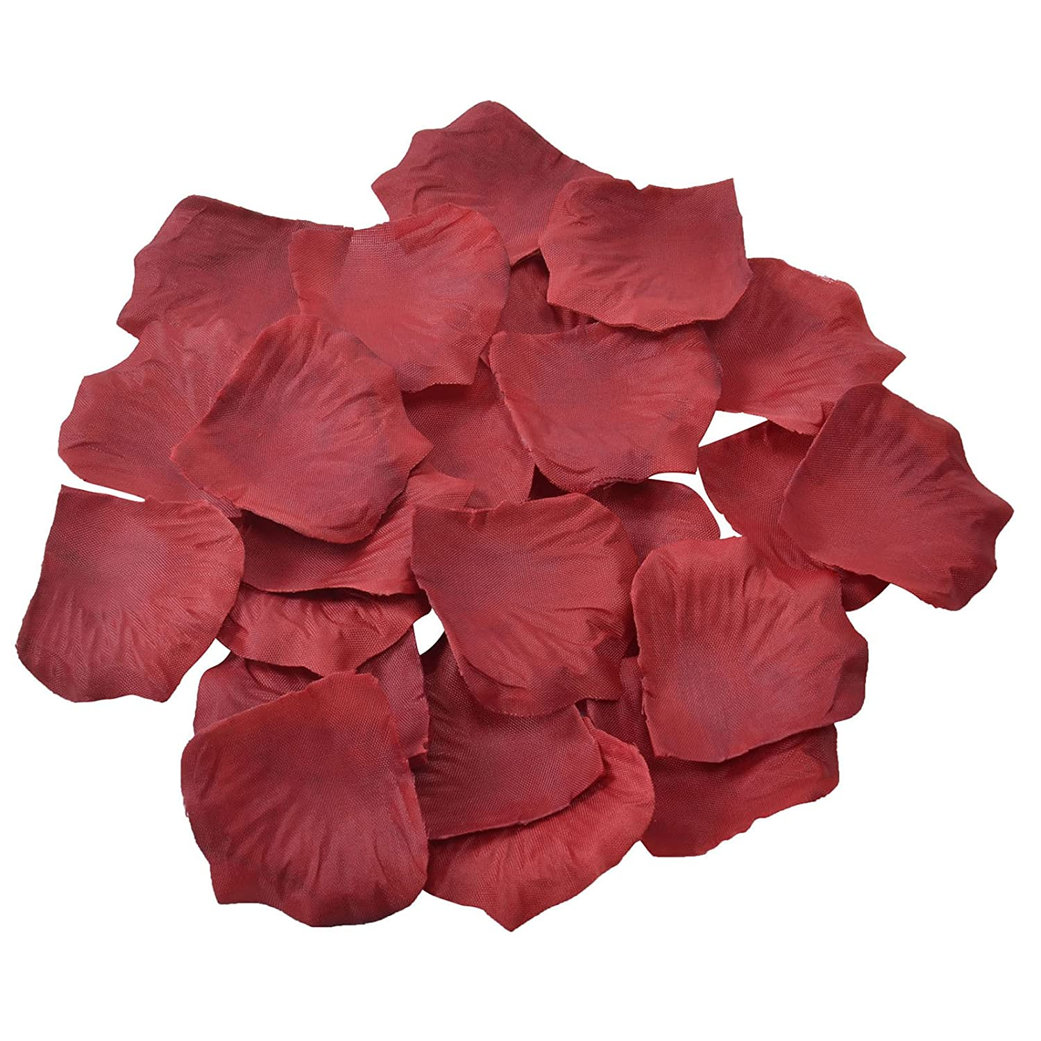 Doutop Rose Petals Silk Artificial Flowers Table Confetti Wedding Favours Scatter Party Flora Petal Favor Bridal Shower 1000pcs (White)