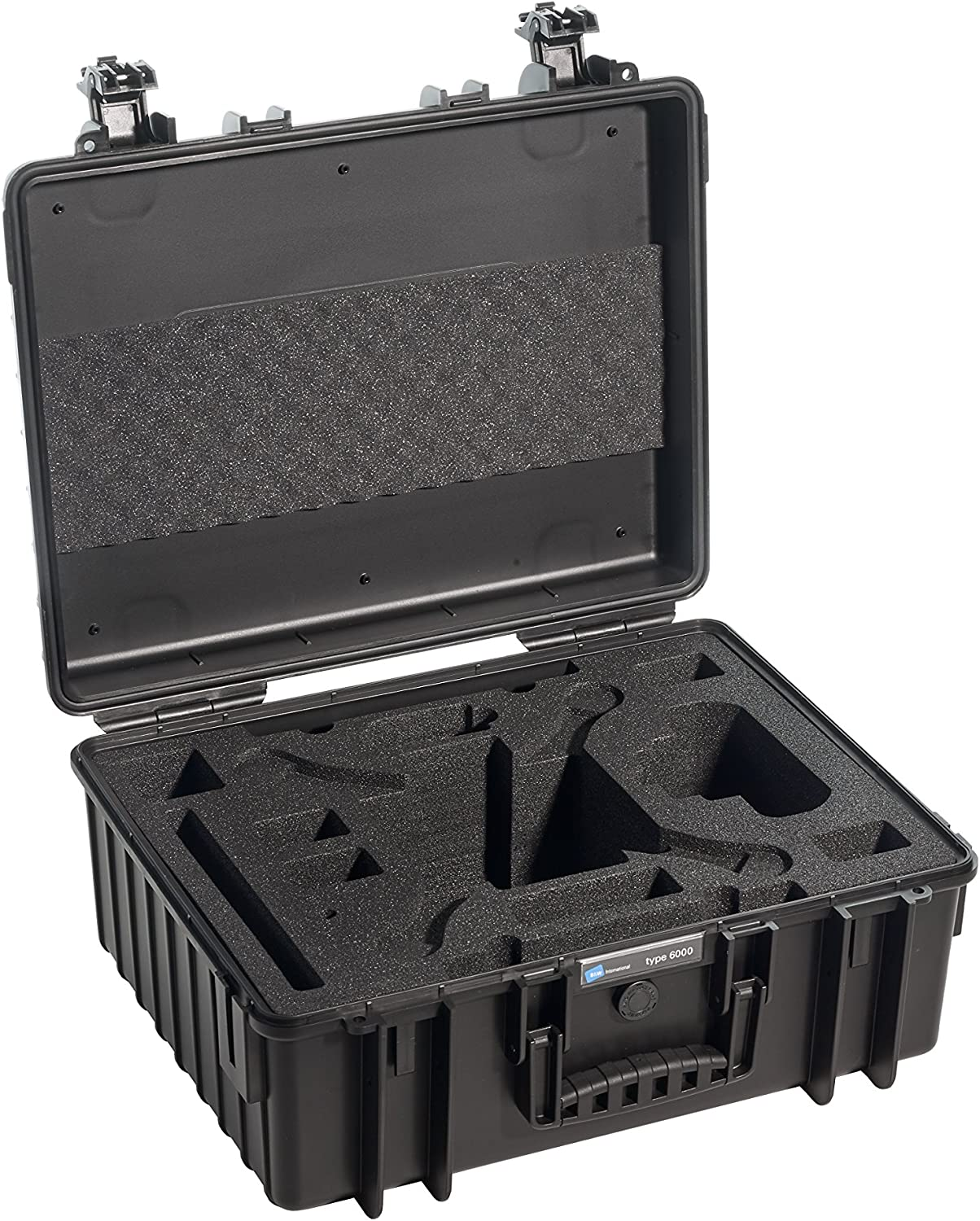 Yellow B/&W International 6000//Y//DJI4 Type 6000 Outdoor Camera Case with custom DJI4 Phantom insert