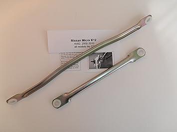 Varilla de vaivén para limpiaparabrisas (Nissan Micra, K12, kt52): Amazon.es: Coche y moto