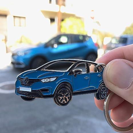 Captur Keyring Schlüsselanhänger Fanartikel Schlüssel Anhänger Keychain Accessories Blue Bürobedarf Schreibwaren