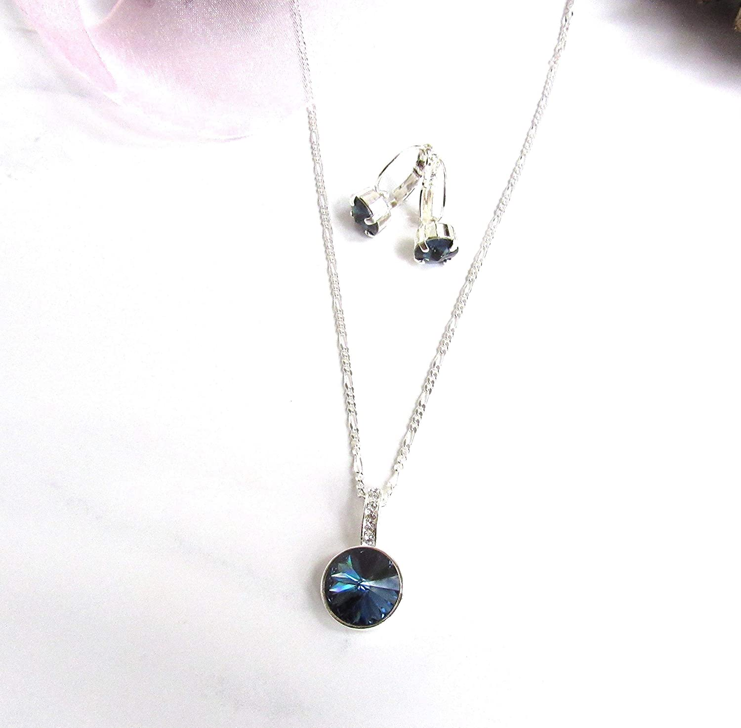 Amazon.com: Navy Blue Necklace for Women, Dark Blue Necklace and ...