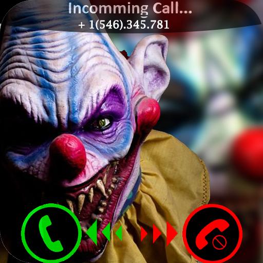 Scary halloween evil killer clown fake call prank