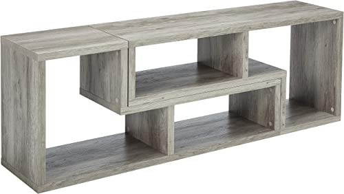 Coaster Home Furnishings Coaster Contemporary Grey Driftwood Convertible Bookcase TV Stand,