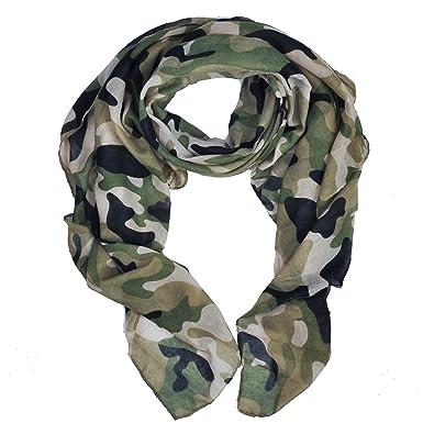 mode de luxe magasin officiel extrêmement unique Heyjewels Unisexe Doux Léger Echarpe Cache Col Foulard Camouflage Vogue  Mode Viscose 180 * 90cm