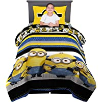 Franco Kids Bedding Super Soft Comforter and Sheet Set, 4 Piece Twin Size, Despicable Me Minions