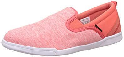 b1f52ee21d045c Reebok Classics Women s Court Slip St W Lp Fire Coral and White Loafers and  Moccasins -