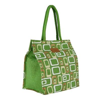 6bc7714a3b Ecotara Glaze Designer Classic Printed Multipurpose Premium Quality Eco  Friendly Jute Lunch Bag For Mens &