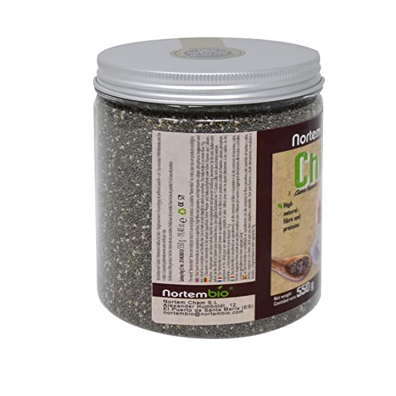 Semillas de Chia (Salvia hispanica) NortemBio 550g, Calidad ...
