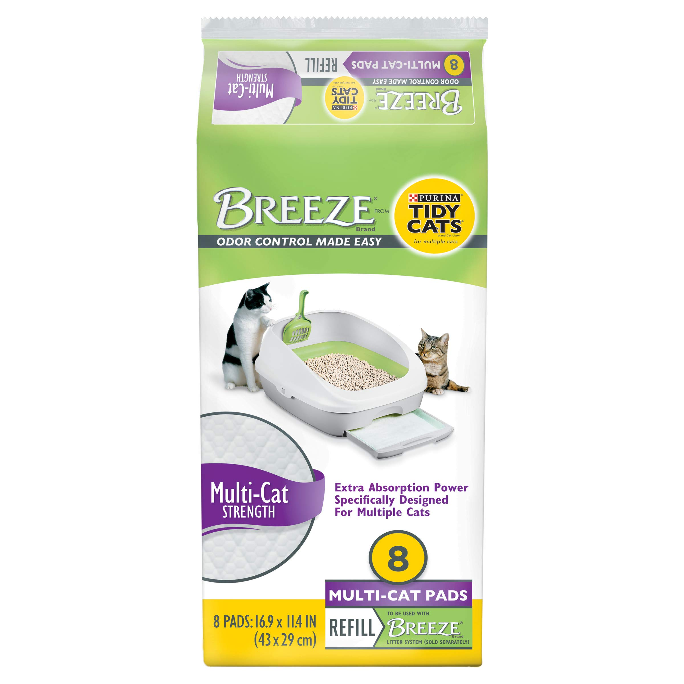 Purina Tidy Cats Cat Litter Accessories, BREEZE Pads Refill Pack Multi Cat Litter - 8 ct. Bag by Purina Tidy Cats