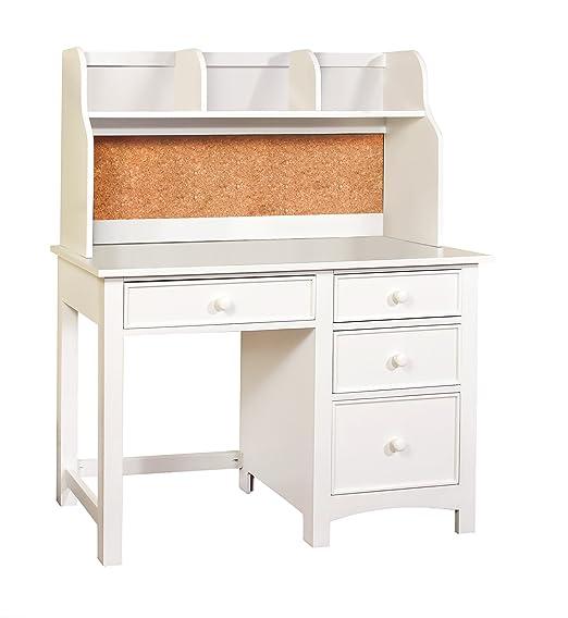 Amazon.com: Furniture of America Alaia White 2-Piece Desk and Hutch Set:  Kitchen & Dining - Amazon.com: Furniture Of America Alaia White 2-Piece Desk And
