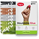 Sugru Moldable Glue - Family-Safe - All-Purpose Adhesive, Suitable for Children - Holds up to 4.4 lb - Natural Colors 8…