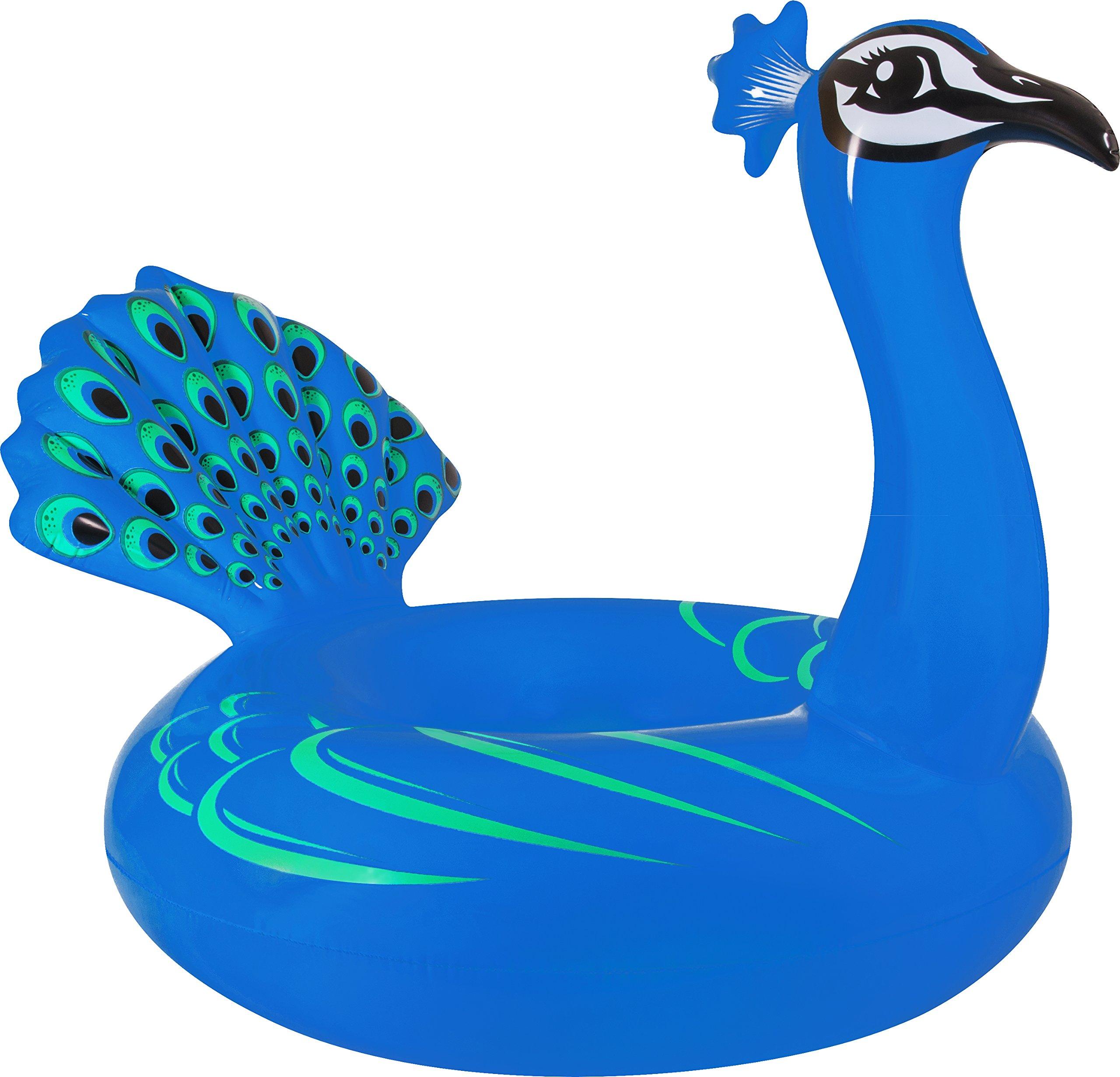 Coconut Float Peacock Swimming Pool Float, 61''