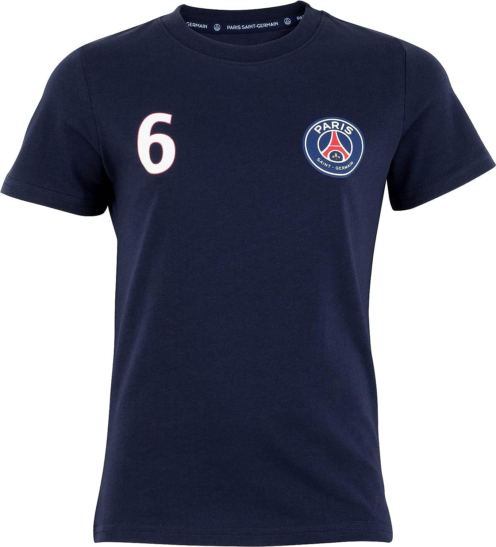 Collection Officielle Paris Saint Germain Taille Enfant gar/çon PSG T-Shirt Marco VERRATTI